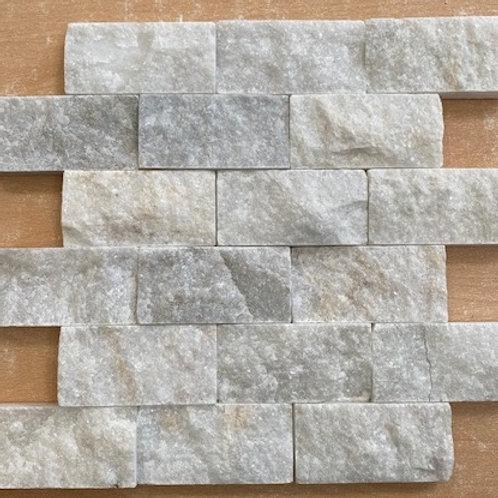White Marble 5 x 10cm Split Face Cladding 30.5 x 30.5cm Sheet