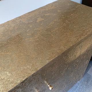 Gold metal cabinet