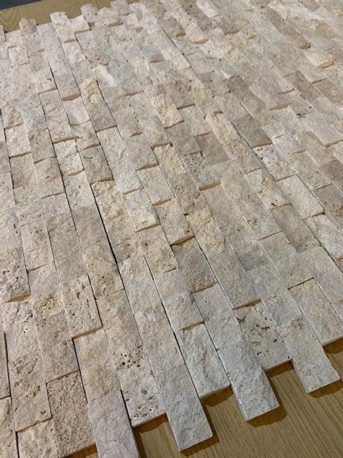 Classic Travertine 2.5 x 5cm Split Face Cladding 30.5 x 30.5cm sheet