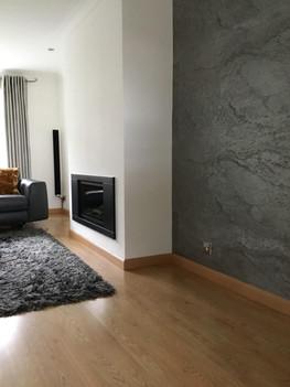 Argento Slate veneer Feature Wall