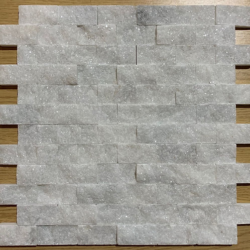 x6 Boxes (4.46 sq mtrs) of White Marble Split Face Cladding