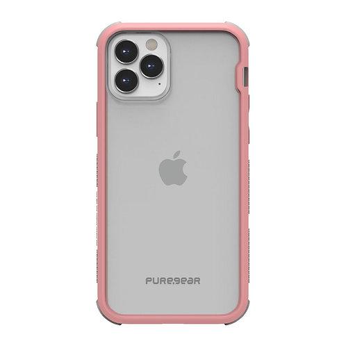 PureGear Dualtek Protector iPhone 12/12 Pro Transparente/Rosa
