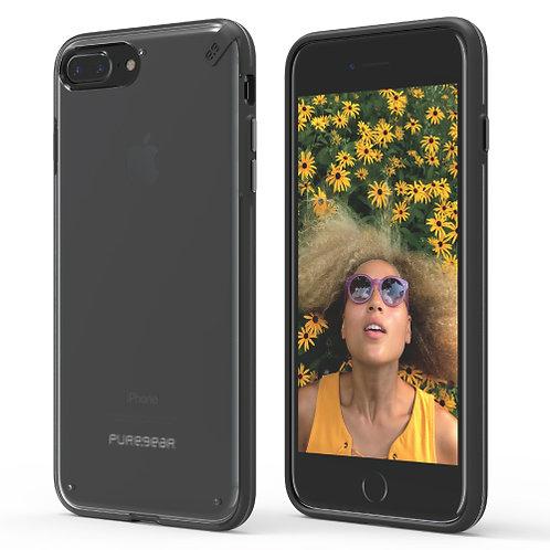 PureGear - Slim Shell (Cl/BK) iPhone 7+/8+