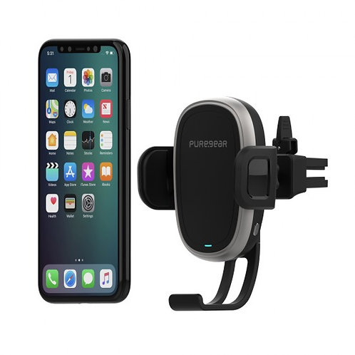 PureGear - AutoGrip Wireless rejilla Car Charger Qi