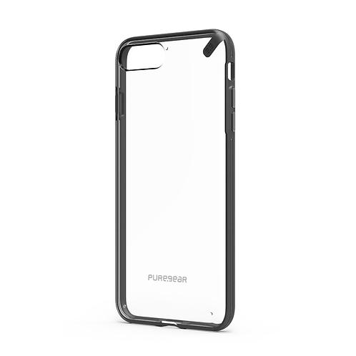 PUREGEAR Slim Shell Protector iPhone 8+/7+ Transparente/Negro