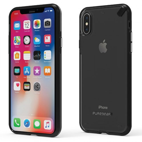 PureGear - Slim Shell (Cl/Bk) iPhone Xs MAX