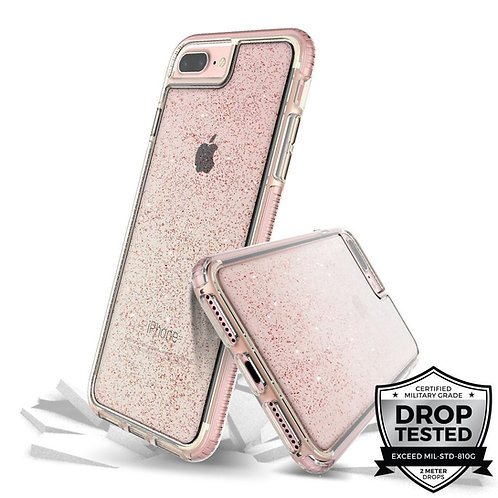 Prodigee Superstar Protector iPhone 8 Plus / 7 Plus Rosa/Escarchado