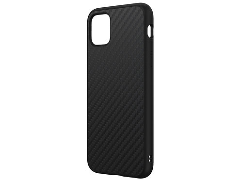 RHINOSHIELD SolidSuit Protector iPhone 11ProMax Fibra De Carbón Negro