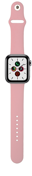 Xqisit Pulsera de Silicon Watch 44mm/42mm Rosado