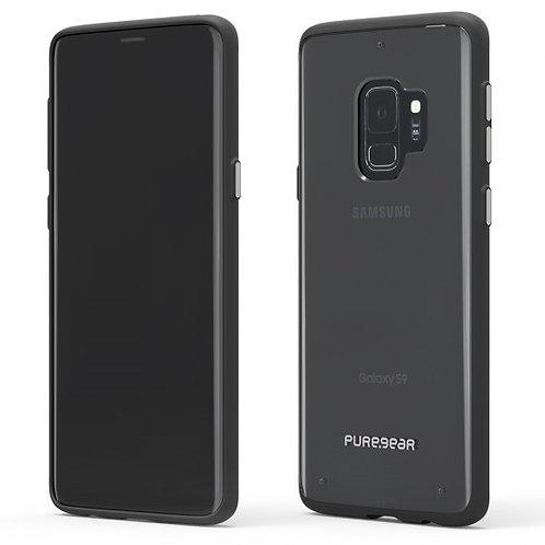 PureGear - Slim Shell (Cl/Bk) Galaxy S9