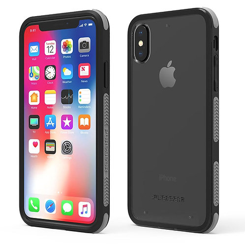 PUREGEAR Dualtek Protector iPhone XsMax Transparente/Negro