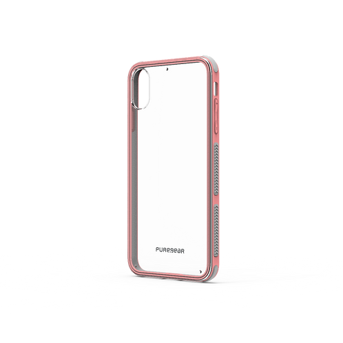 PUREGEAR Dualtek Protector iPhone XsMax Transparente/Rosa