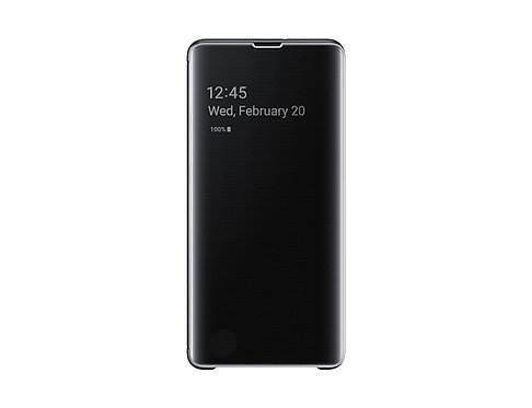 Samsung Clear View Standing Cover Galaxy S10+ Negro