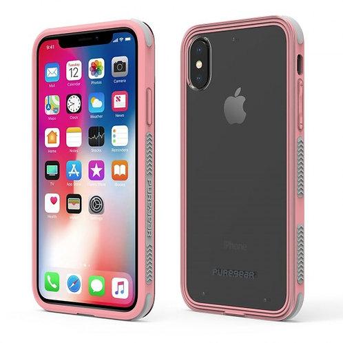 PureGear - Dualtek Clear (rosa) iPhone Xs
