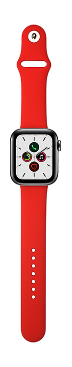 Xqisit Pulsera de Silicon Watch 44mm/42mm Rojo