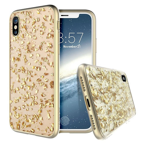 PRODIGEE Treasure Protector iPhone X/Xs, Transparente/Dorado