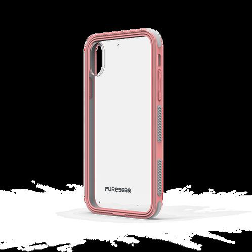 PUREGEAR Dualtek Protector iPhone X/Xs Transparente/Rosa