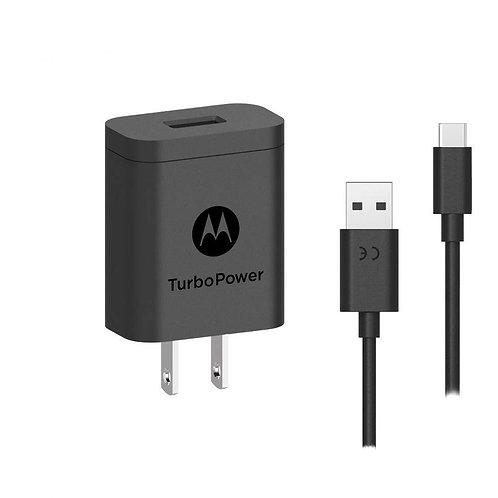 Motorola Cargador de Pared USB C, 18W, Negro