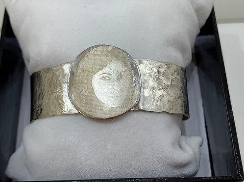 Création bracelet argent avec photogravure