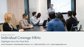 Individual Coverage HRAs: Highlights from the Final Rule
