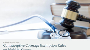 Contraceptive Coverage Exemption Rules on Hold by Courts