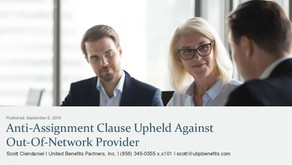 Anti-Assignment Clause Upheld Against Out-of-Network Provider