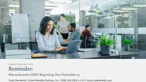 Reminder: Massachusetts HIRD Reporting Due December 15