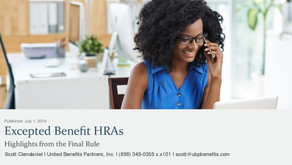 Excepted Benefit HRAs: Highlights from the Final Rule