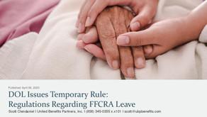 DOL Issues Temporary Rule: Regulations Regarding FFCRA Leave