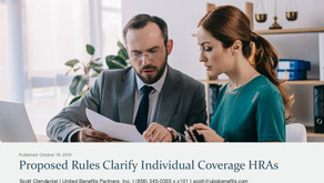 Proposed Rules Clarify Individual Coverage HRAs