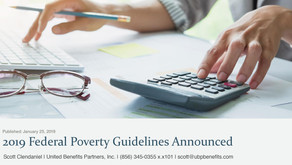 2019 Federal Poverty Guidelines Announced