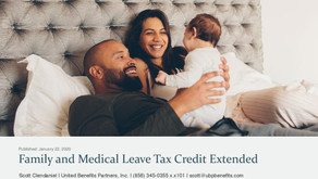 Family and Medical Leave Tax Credit Extended