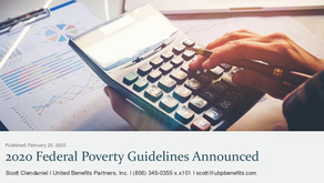 2020 Federal Poverty Guidelines Announced