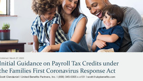 Initial Guidance on Payroll Tax Credits under the Families First Coronavirus Response Act