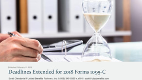 Deadlines Extended for 2018 Forms 1095-C