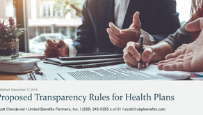 Proposed Transparency Rules for Health Plans