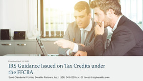 IRS Guidance Issued on Tax Credits under the FFCRA