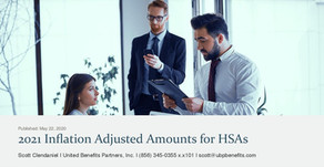 2021 Inflation Adjusted Amounts for HSAs