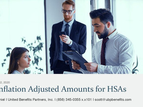 2021 Inflation Adjusted Amounts for HSAs
