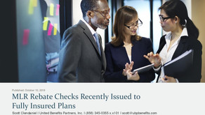 MLR Rebate Checks Recently Issued to Fully Insured Plans