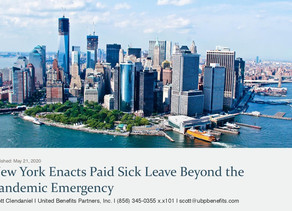 New York Enacts Paid Sick Leave Beyond the Pandemic Emergency