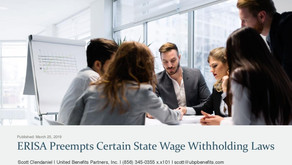 ERISA Preempts Certain State Wage Withholding Laws
