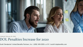 DOL Penalties Increase for 2020