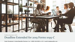 Deadline Extended for 2019 Forms 1095-C