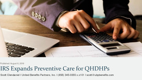 IRS Expands Preventive Care for QHDHPs
