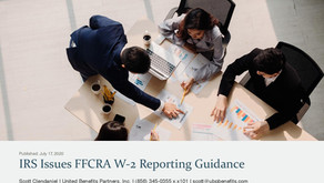 IRS Issues FFCRA W-2 Reporting Guidance