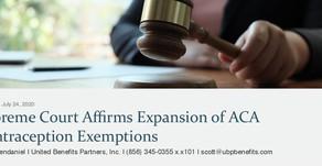 Supreme Court Affirms Expansion of ACA Contraception Exemptions