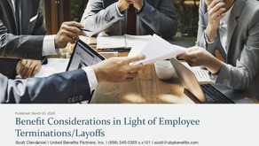 Benefit Considerations in Light of Employee Terminations: Layoffs