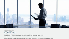 COVID-19: Employer Obligations for Members of the Armed Services