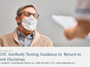 EEOC Antibody Testing Guidance in Return to Work Decisions